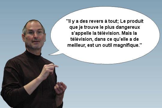 Steve Jobs s'exprimant à propos des avancées technologiques