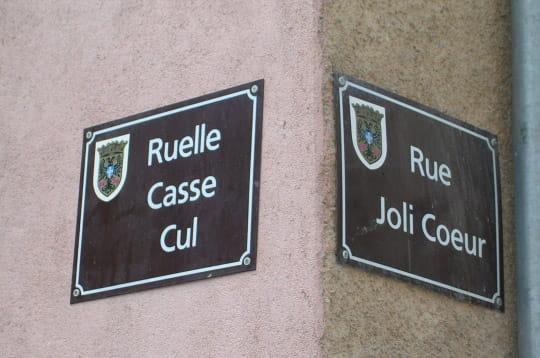Des noms de rues bien étranges