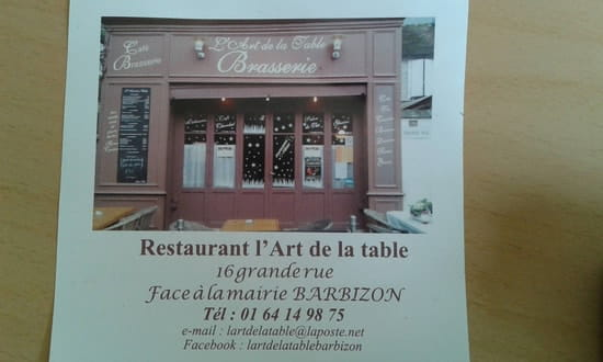 Restaurant : L'Art de la Table  - Cuisine française traditionnelle -