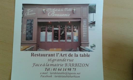 Restaurant : L'Art de la Table  - Cuisine française traditionnelle -