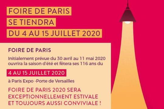 Foire de Paris2020: l'édition d'avril reportée en juillet, dates, tarifs, invitations...