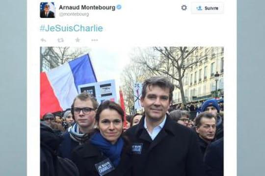 Arnaud Montebourg et Aurélie Filippetti: ils s'affichent encouple àlamarche républicaine