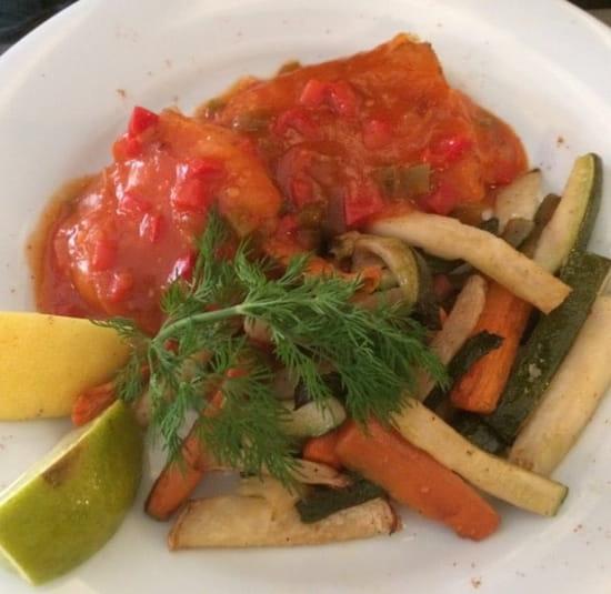 Plat : Brasserie de la Bourse  - Cabillaud aux légumes  -