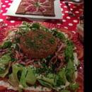 Plat : Le Chaperon Rouge  - Salade normande et crêpe Sud ouest  -