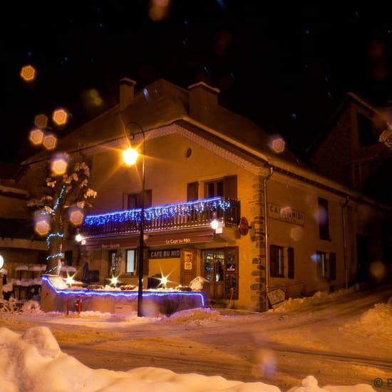 Restaurant : Le Café du Midi - La Violette  - Le bar, l'hiver -   © MD