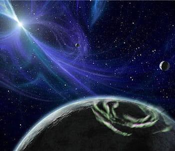 il s'agit de la première découverte de planètes extrasolaires.