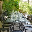 L'Auberge du Moulin d'Arche  - la terrasse -