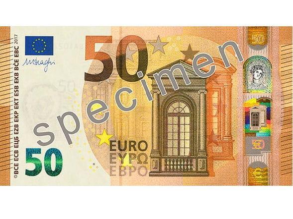 Le Futur Nouveau Billet De 50 Euros