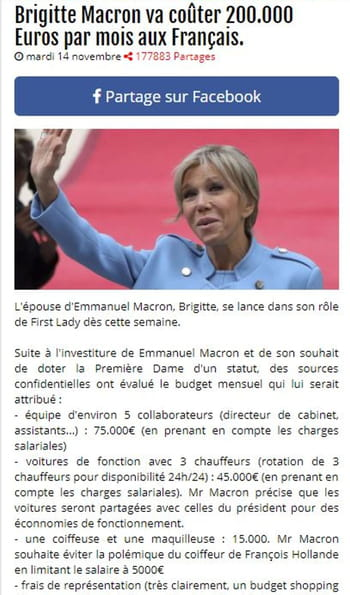 brigitte macron va co ter 200 000 euros par mois aux fran ais. Black Bedroom Furniture Sets. Home Design Ideas