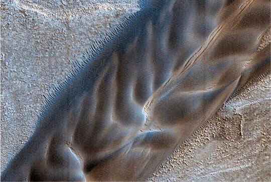 Piles sédiments Mars