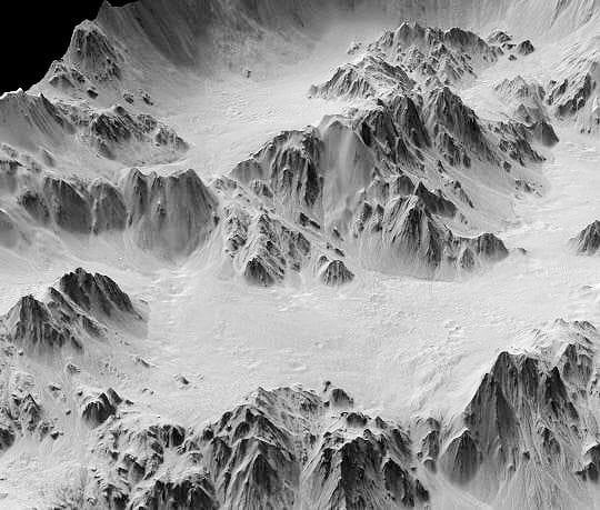 Cratère d'impact Mars