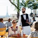 Moncoeur Belleville  - Terrasse avec vue sur la tour Eiffel + cuisine chic et populaire -   © stéphane Rambaud