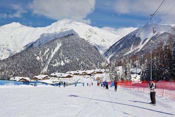 La piste de ski Gazprom