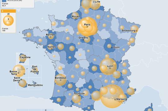 CARTE. Coronavirusen chiffres: cas, décès, courbes... Dernier bilan en France