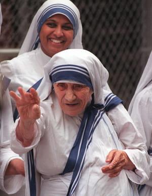 Mère Teresa quelques mois avant sa mort à New York