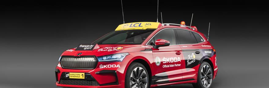 Skoda Enyaq IV: quelle est la voiture électrique du Tour de France?