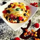 Terre et Mer  - Dessert mousse sabayon aux fruits frais caramélisés  -