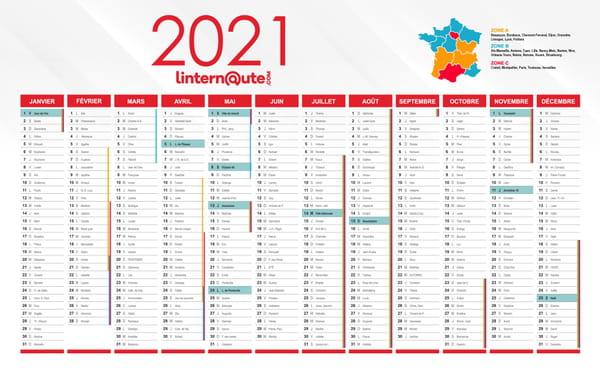 calendrier scolaire officiel 2021
