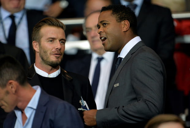 David Beckham et Patrick Kluivert