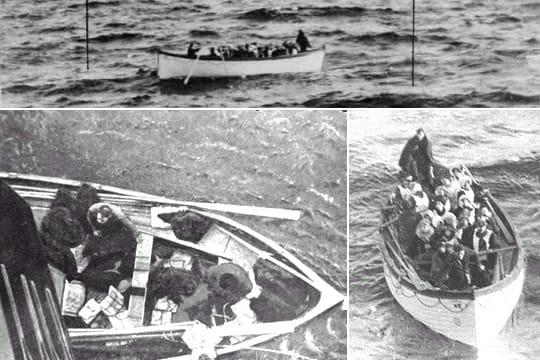 Titanic: les images des naufragés