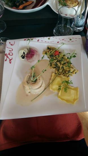 Plat : Restaurant L'Arôme - Jean-Jack Monti  - Poisson et ravioles -