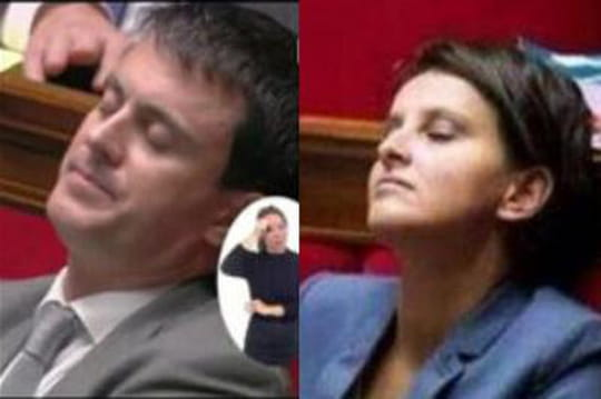 Manuel Valls, Najat Vallaud-Belkacem: ça dort à l'Assemblée?