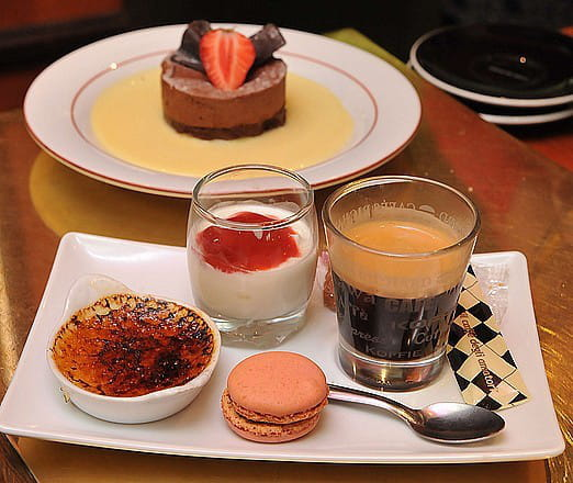 Restaurant : Café de la Place  - Café gourmand -   © Dessert
