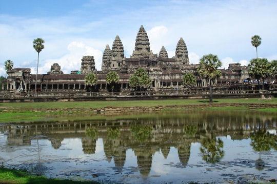 Monastère d'Angkor Vat au Cambodge
