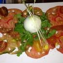 Entrée : La Licorne  - Carpaccio de tomates, sorbet basilic -