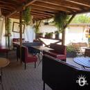 Aux Trois Couleurs  - La terrasse couverte -   © Colmar.blog