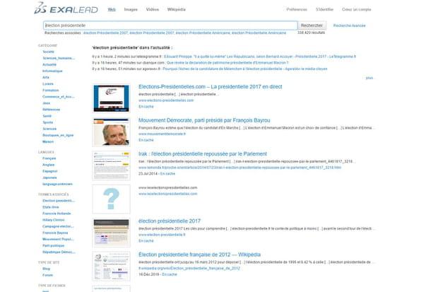 Exalead: un moteur de recherche pro