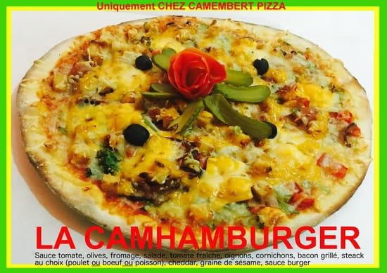 Chez Camembert Pizza  - La CAMHAMBURGER : l'hamburger revisité par Camembert pizza -   © CAMEMBERT PIZZA