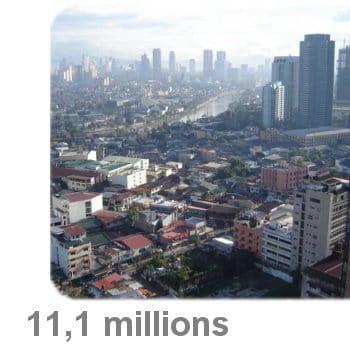 manille est la 17e plus grande agglomération du monde.