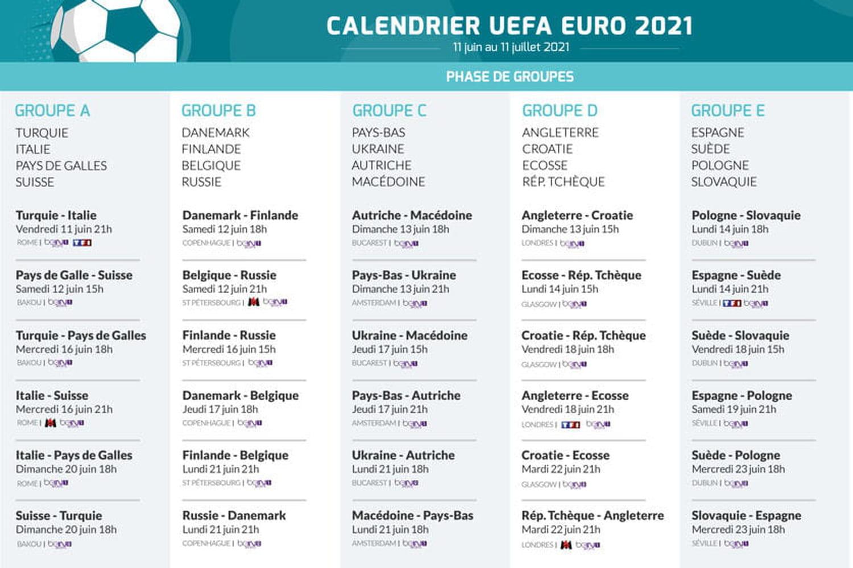 tableau des rencontres euro 2021 pdf