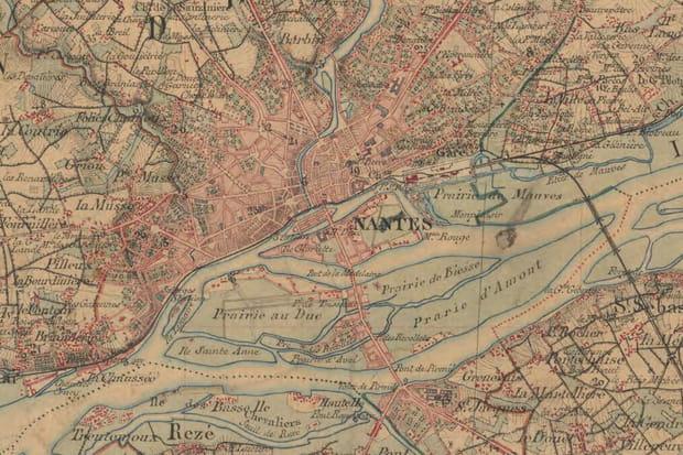 Nantes vers 1860