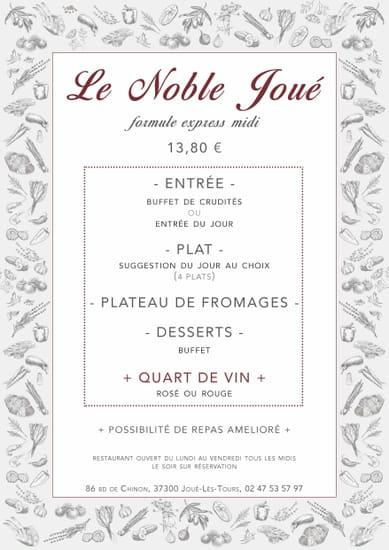 Restaurant : Le Noble Joué  - Formule de restaurant -   © 1