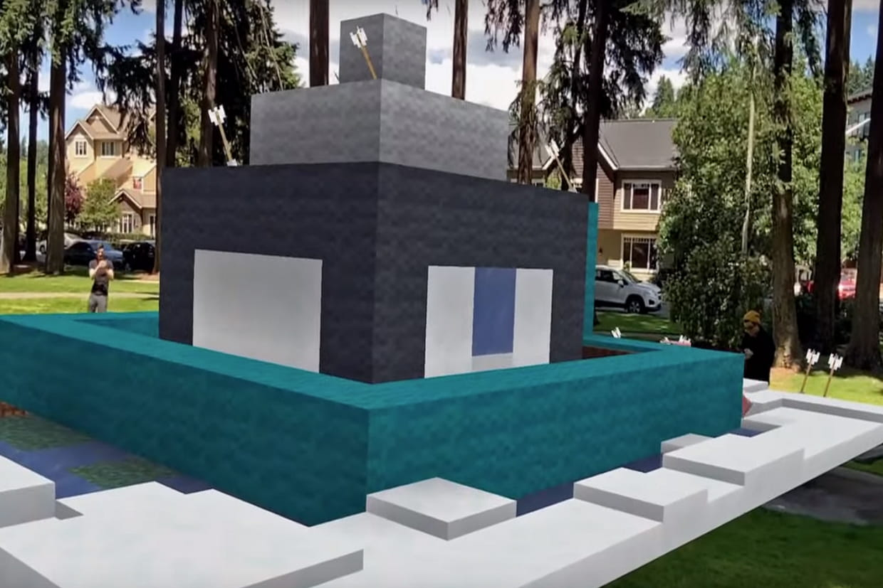 Un trailer pour la beta fermée imminente — Minecraft Earth