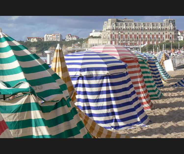 La Grande Plage à Biarritz (Pyrénées-Atlantiques)