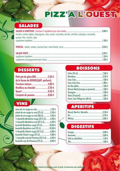 Pizz'a l'Ouest  - menu 2  -