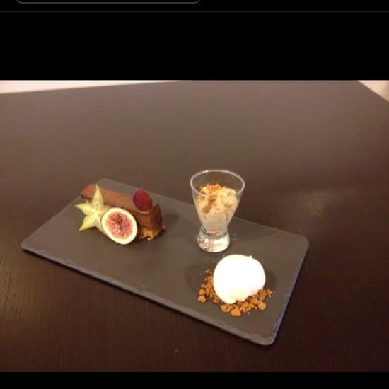 Dessert : La Table De Marthe  - Supplice au chocolat croustillant praline  -