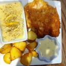Plat : Spey brasserie  - Escalope milanaise/ riz et pommes de terres poêlée = 9,90€!! -