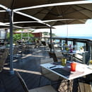 Le Pavillon Beach  - Terrasse du restaurant -   © imperial garoupe