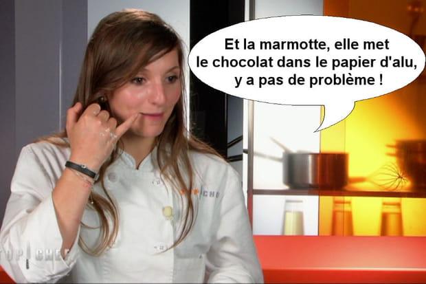 """Noémie: """"La marmotte elle met le chocolat dans le papier d'alu!"""""""