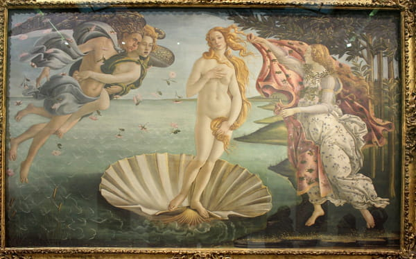La Naissance de Vénus, Sandro Botticelli, 1485.