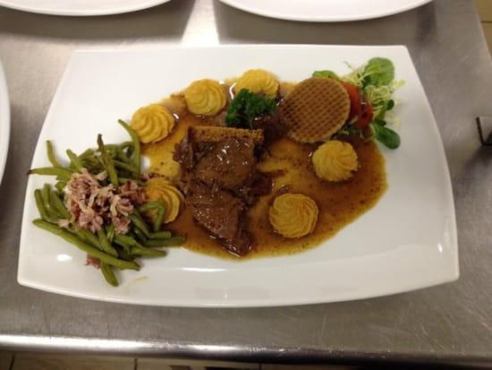 Plat : Brasserie La Plage  - Fricassée de Marcassin à la liegeoise -
