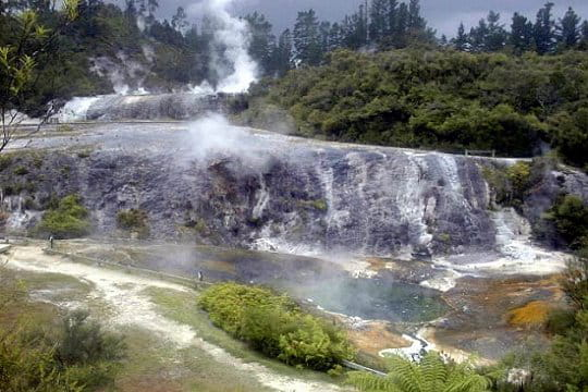 Les phénomènes géothermiques de Roturoa