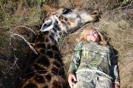 Tueuse de girafes : la photo choquante qui révolte le web