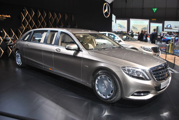 mercedes maybach s600 pullman la limousine version xxl. Black Bedroom Furniture Sets. Home Design Ideas