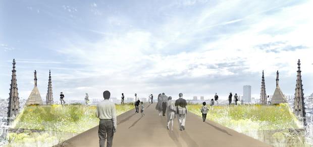 BASE Paris: esplanade végétalisée