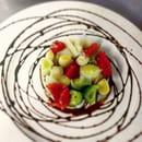 Entrée : Le Gros Lierre  - entrée du jour poireaux et tomates confites en vinaigrette -   © yvp
